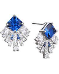 Badgley Mischka - Square Crystal Fan Drop Earrings - Lyst