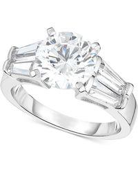 Macy's - Arabella Swarovski Zirconia Ring In Sterling Silver - Lyst
