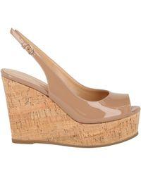 Sergio Rossi Pantelleria Suede Wedge Sandals - Natural