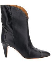 Étoile Isabel Marant Dythey 70 Western Ankle Boots - Black