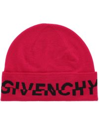 Givenchy Logo Wool Beanie - Red