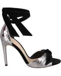 Alexandre Birman New Clarita Leather Sandals - Black