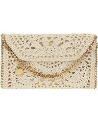 Stella McCartney Falabella Mini Crochet Cross-body Bag - White