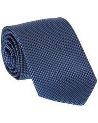 Dunhill Micro Diamond Silk Tie - Blue