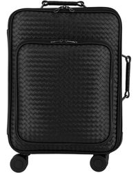 Bottega Veneta Trolley Vn Leather Suitcase - Black