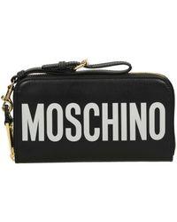 Moschino Moschino Logo Leather Wallet - Black