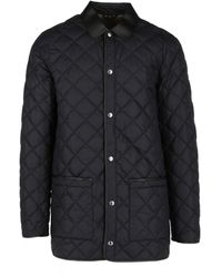 Dunhill Lightweight Quilted Car Coat - Black