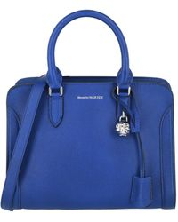 Alexander McQueen Small Skull-detail Shoulder Bag - Blue
