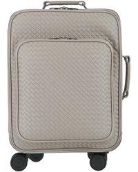 Bottega Veneta Trolley Vn Leather Suitcase - Gray
