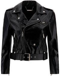Givenchy Vintage Leather Biker Jacket - Black