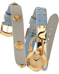 Versace Medusa Lock Icon Leather Watch - Multicolour