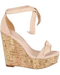 Alexandre Birman Clarita Knot Wedge Sandals - Brown