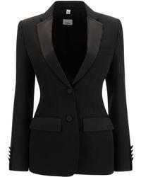 Burberry Otelia Wool Blazer - Black