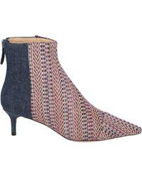Alexandre Birman Kittie Denim Ankle Boots - Blue