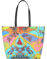 Versace Jeans Couture Reversible Chain Mail Print Tote Bag - Multicolor
