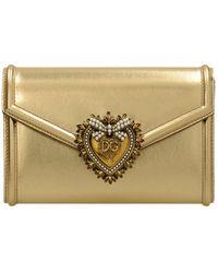 Dolce & Gabbana Devotion Leather Belt Bag - Metallic