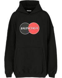 Balenciaga Uniform Oversized Hoodie - Black
