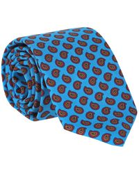 Dunhill Printed Silk Tie - Blue