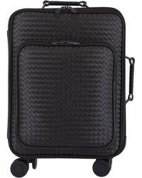 Bottega Veneta Trolley Vn Leather Suitcase - Brown