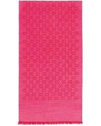 Gucci GG Logo Wool And Silk Scarf - Multicolor