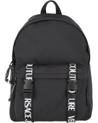 Versace Jeans Couture Logo Fabric Backpack - Black