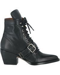 Chloé Rylee 60 Leather Ankle Boots - Black