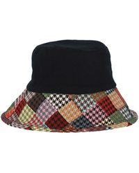 D'Estree Bob Reversible Houndstooth Hat - Multicolour