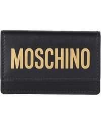 Moschino - Logo Leather Wallet - Lyst