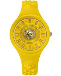 Versus Fire Island Silicone Watch - Yellow