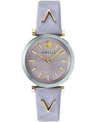 Versace V-twist Leather Watch - Multicolour