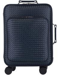 Bottega Veneta Trolley Vn Leather Suitcase - Blue