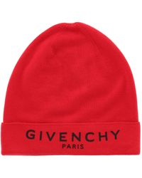 Givenchy Logo Wool Beanie - Black