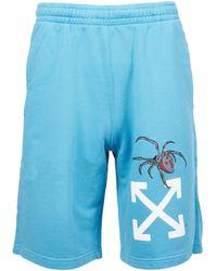 Off-White c/o Virgil Abloh Mens Arachno Arrow Sweatshorts - Blue