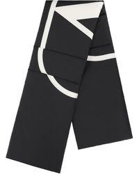 Valentino V-logo Wool Stole - Black