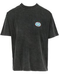 Balenciaga Bb Flag Print T-shirt - Black