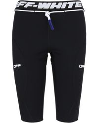 Off-White c/o Virgil Abloh Womens Active Cycling Shorts - Black