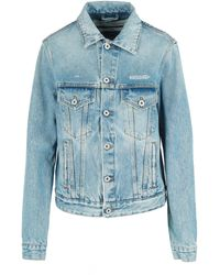 Off-White c/o Virgil Abloh Logo-print Classic Denim Jacket - Blue