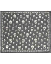 Alexander McQueen Classic Skull Scarf - Black