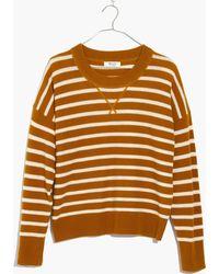 Madewell - Cashmere Sweatshirt In Stripe - Lyst
