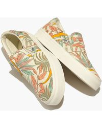 cf3f3d2b89 Madewell - Vans Unisex Classic Slip-on Sneakers In Cali Floral - Lyst
