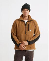 MW Topo Designs® Mountain Fleece Pullover Jacket - Brown