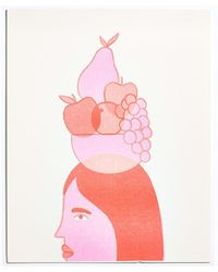 Madewell Claire Shadomy Fruit Bowl Print - Pink
