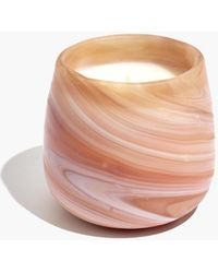 MW Matte Marbled Glass Candle - Multicolor