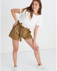 Madewell Paperbag Shorts - Natural