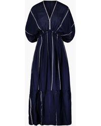 MW - Lemlemtm Nunu Plunge-neck Dress - Lyst