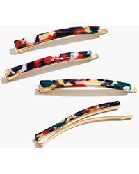 Madewell Four-pack Rainbow Acetate Hair Pins - Multicolour