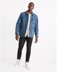 MW Denim Chore Jacket In Vancleese Wash - Blue