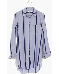 Madewell   Striped Button-down Tunic Shirt   Lyst