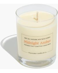 MW Peacesake Candles & Co.® Midnight Amber Candle - White