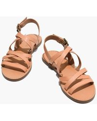 Madewell - The Boardwalk Multistrap Sandal - Lyst